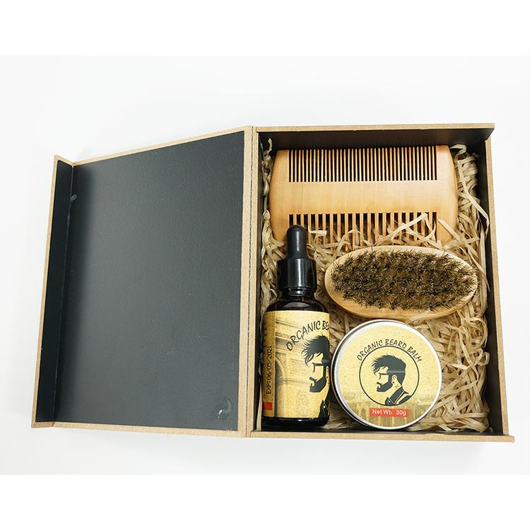 Beard Grooming Set Kit-Beard Brush And Comb / The Ultimate Grooming Beard Kit