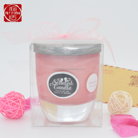 Home decoration aromatherapy scented candles in glass candle holder