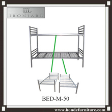Easy assembling Military Cots Metal Bunk Detachable Double Single Camp Beds Y