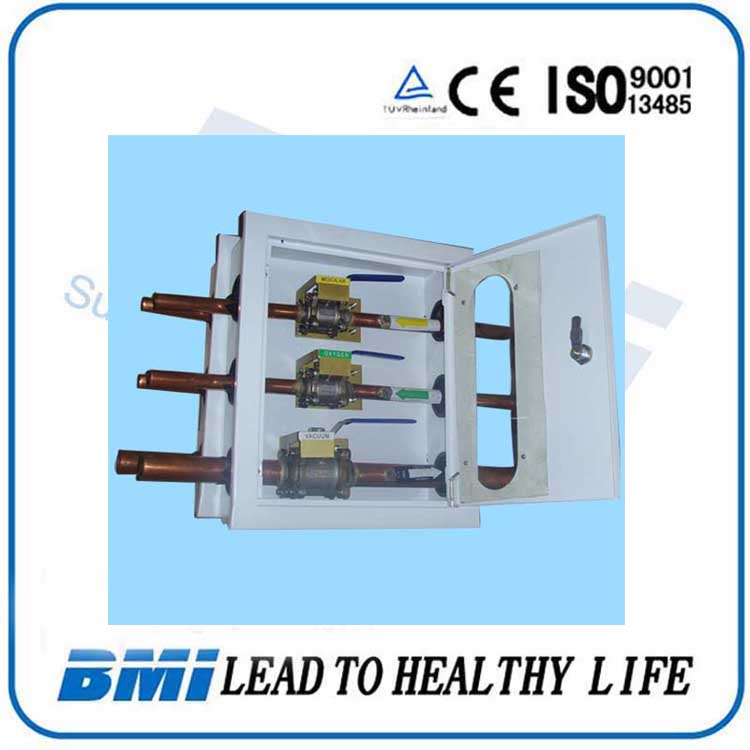 China Supplier Medical Gas Valve Box With Different Diameter