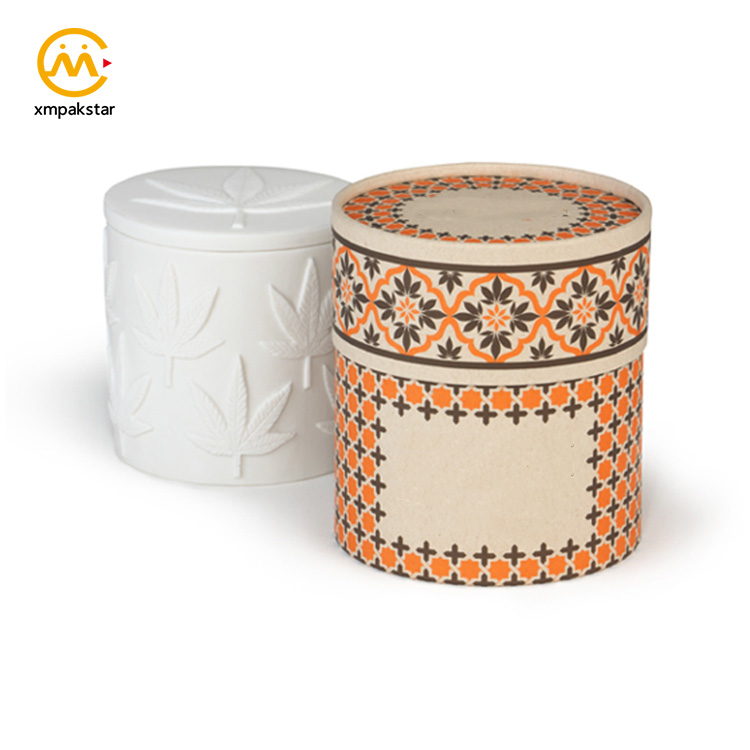 China supplier candle holder jars packaging round cardboard tube boxes
