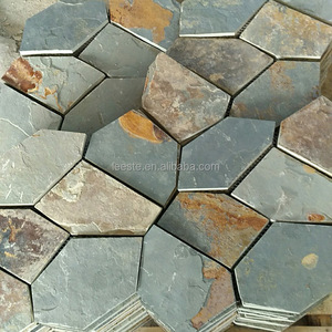 Hot Selling Misty Yellow Stepping Slate Stone Flagstone Flooring Tile