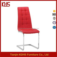 china supplier best price uoholstered synthetic leather red dining chairs australia