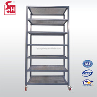 Metal Mesh Storage Angle Iron Rack Shelf