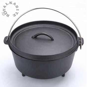 High quality matt black dutch oven for camping