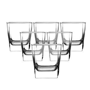 Transparent Glass Thick Bottom Square Beer Mug Tempered Glass Whiskey Wine Glass