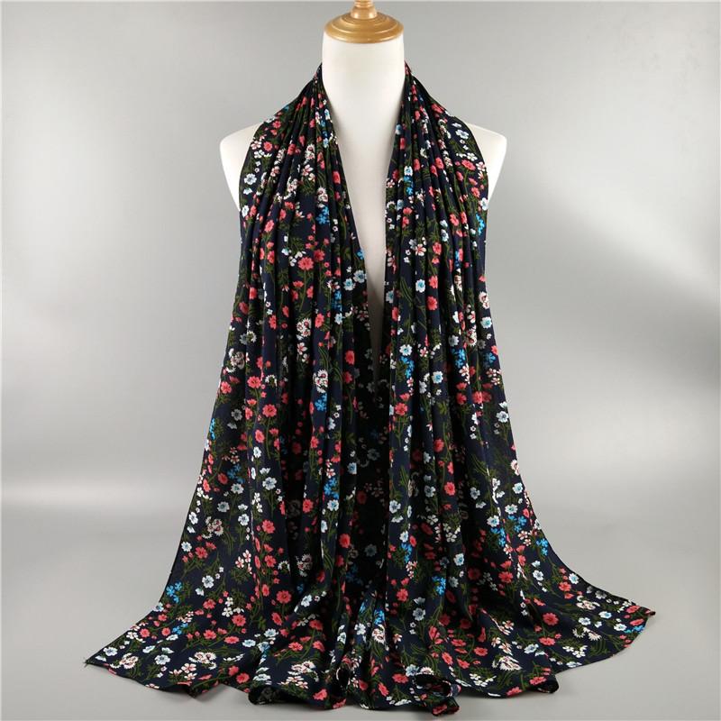 G5 20pcs flower printed big bubble chiffon hijab printing shawl scarf  180 75cm - us286 c411fe735536