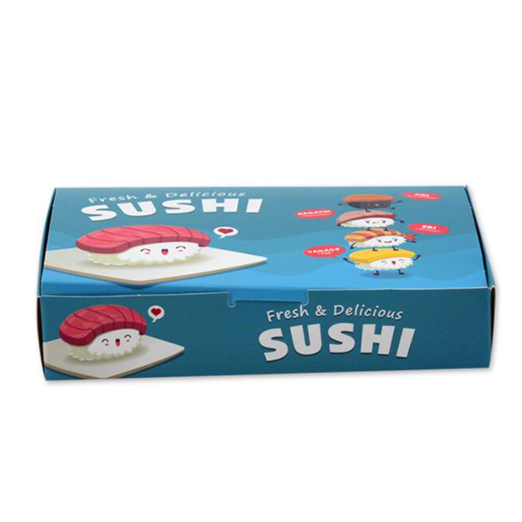 Eco friendly sushi packaging box with logo