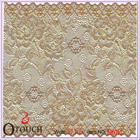 Notable gold silk raschel knitting lace for shirts