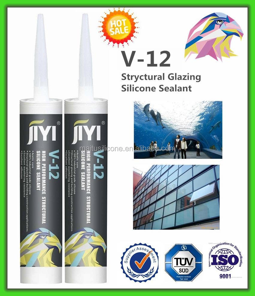 Acidic silicone sealant(good adhesion ) clear