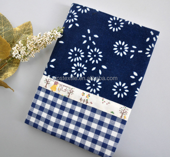 Custom Cotton Fabric Book Covers Slipcover