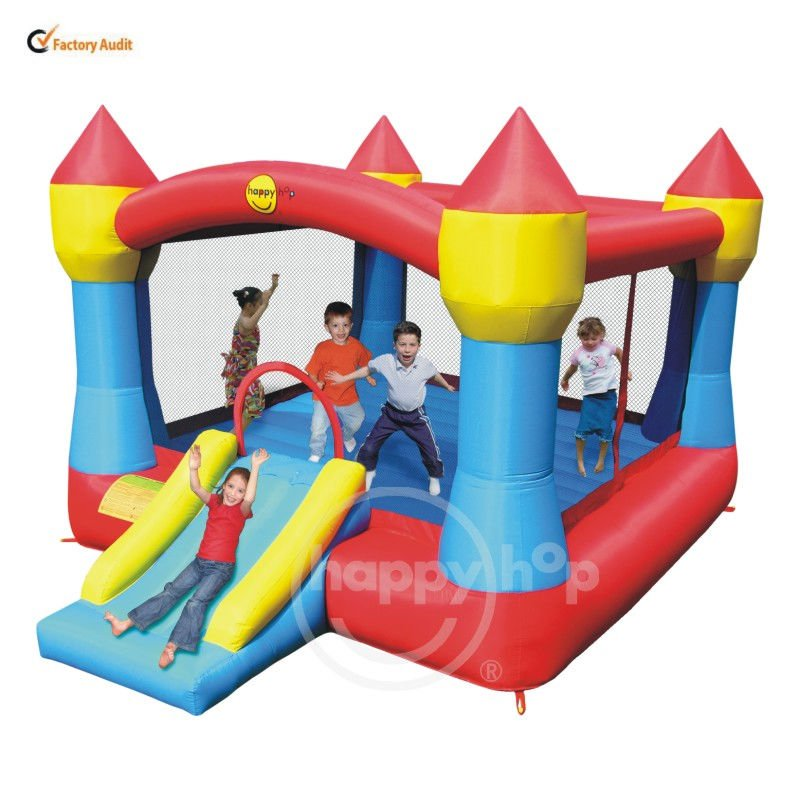 Happy hop Super Inflatable castle-9217 Super Castle Bouncer with Slide