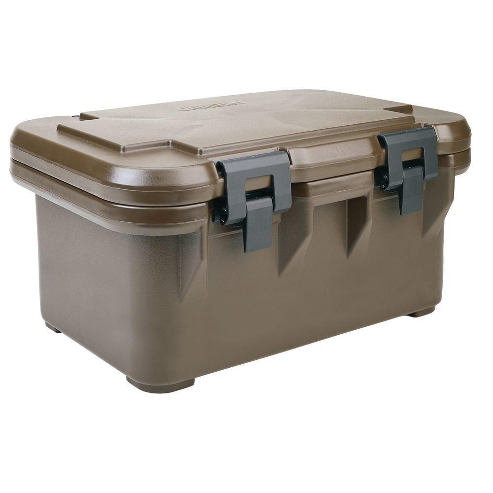 "Cambro Ultra Pan Carrier""S"" Series 25 1/8""L x 17 1/8""D x 12 1/4H Dark Brown - HUB-22496"
