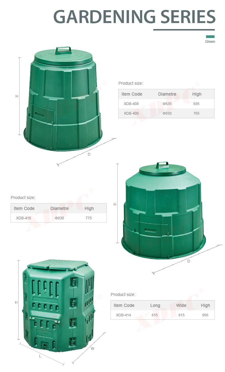 Compostable Food Waste Composter Container Indoor Plastic Kitchen ...