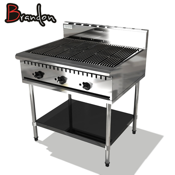 Restaurant Equipment Kitchen Fast Food Portable Cast Iron Bbq Gas ...