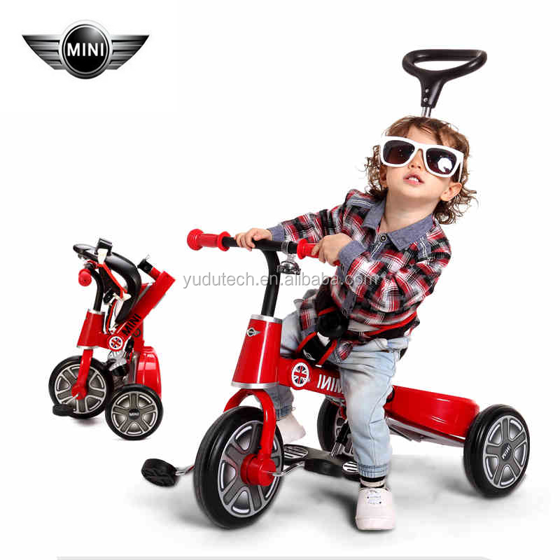 License RSZ3003MB Foot Pedal 3 wheel bike for kids Rubber Gear Brake Lever folding bicycle for kids