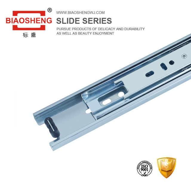 Blue Zinc /Dotted Finish Groove Drawer Slides With Ball Bearing