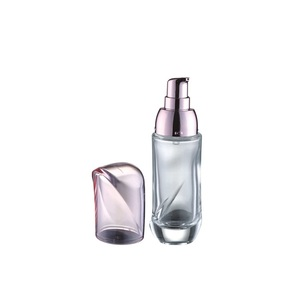 High Quality Unique Irregularity Shape Light Pink Bottle 40ml 100ml 120ml for Cosmetic Lotion Glass Bottles Cream For Liquor