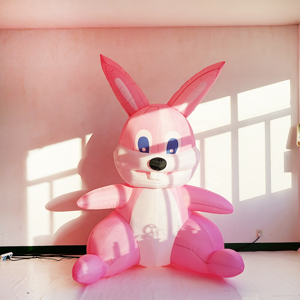 easter decorative inflatable bunny 3m pink rabbit inflatable for easter