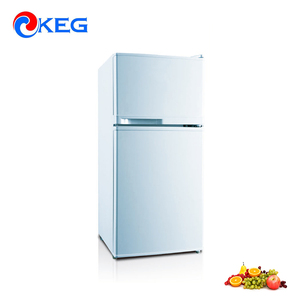 80L Household and Hotel Use Mini Compressor Fridge Upright Freezer Defrost Small Glass Door Double Sided Refrigerator
