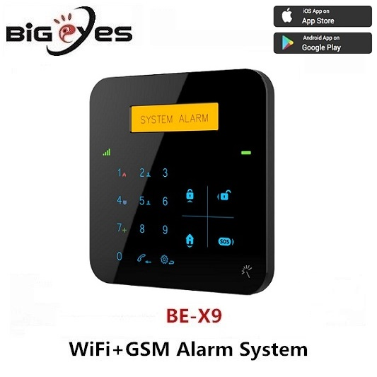 Smart GSM/3G WiFi GPRS SMS alarm system support Contact ID/SIA for CMS & fingerprint door lock supported WiFi GSM alarm system