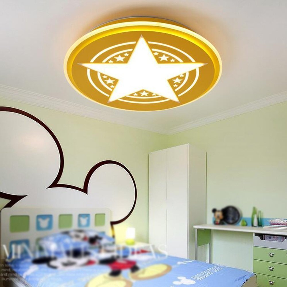 DIDIDD Ceiling light- modern minimalist creative led round stepless dimming acrylic ceiling lights bedroom boy cartoon children room ceiling lights (color, Size optional) --home warm ceiling lamp
