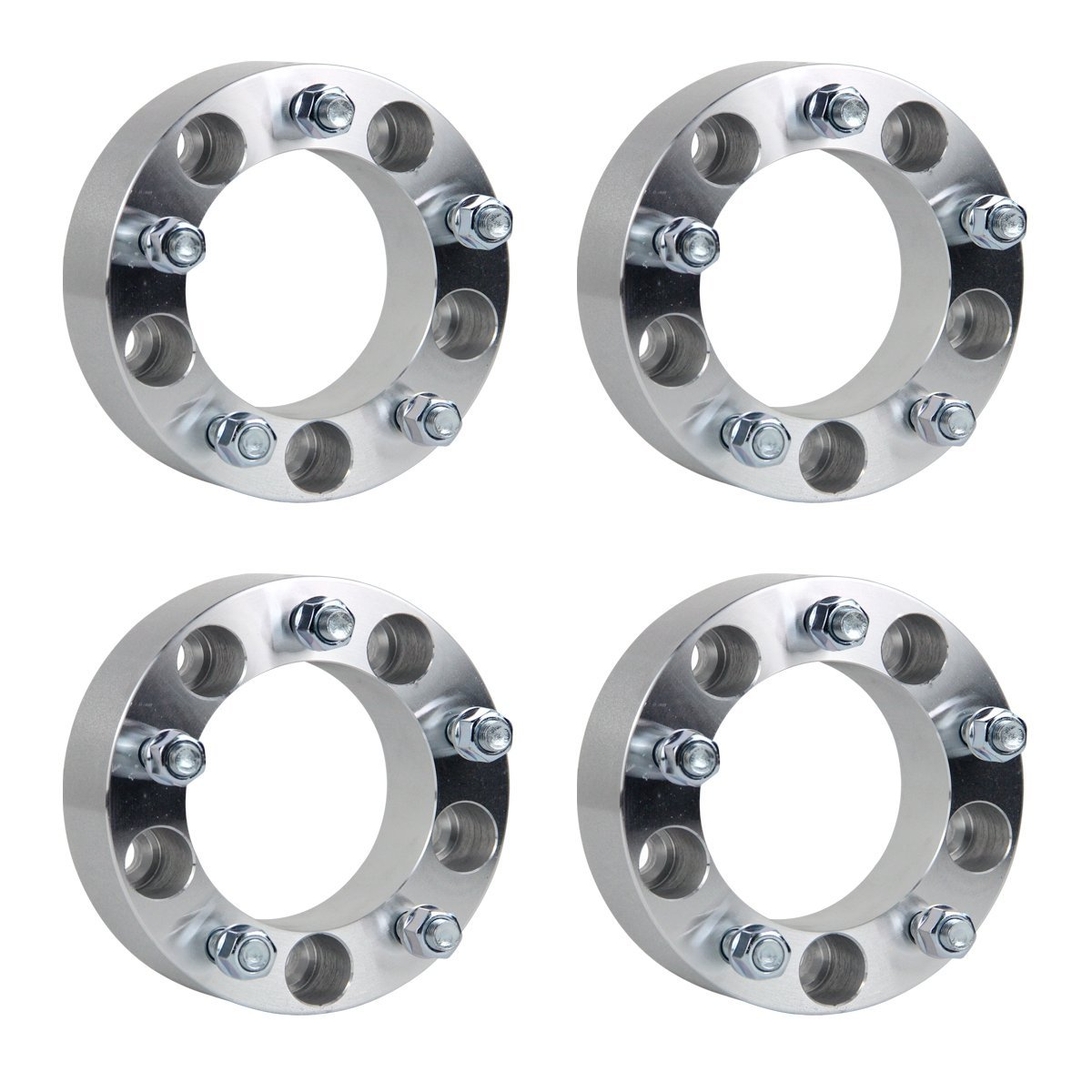 "GESS 4pcs 2"" 5x5.5 to 5x5.5 (5x139.7 to 5x139.7) Wheel Spacers 1/2"" studs for Ford E150 Ford F150 Ford Bronco Dodge Ram 1500 Ramcharger Jeep CJ"