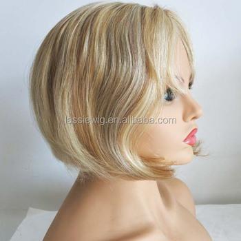 Kurze Haare Highlights Farbe Menschenhaar Perucke Blond Buy Blonde Menschenhaar Volle Spitzeperucke Asche Blonde Perucke Menschenhaar Perucke