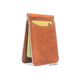 Genuine leather men's brown cow purse mens real cowhide ticket folder wallets