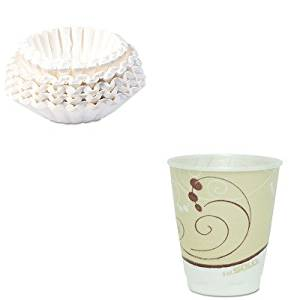 KITBUN1M5002SLOX8J8002 - Value Kit - Solo Symphony Design Trophy Foam Hot/Cold Drink Cups (SLOX8J8002) and Bunn Coffee Commercial Coffee Filters (BUN1M5002)