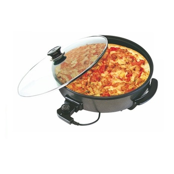 1500W Non-Stick 42cm Electric Pizza Pan with CE ROHS LFGB certificates