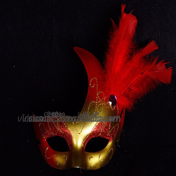 WHM-023 Yiwu Caddyhot sale golden masquerade party mask latest carnival ball party mask with diamond