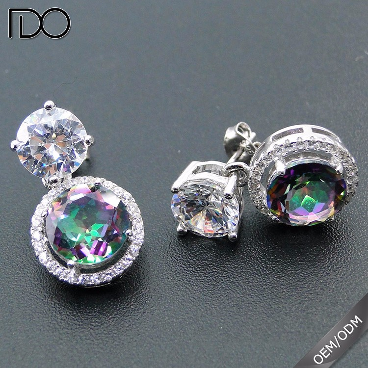 Competitive price zircon afro earrings