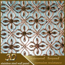 Stainless Steel Sheet Price Sus304 Metal 3D Wall Decor Panels 3D Board