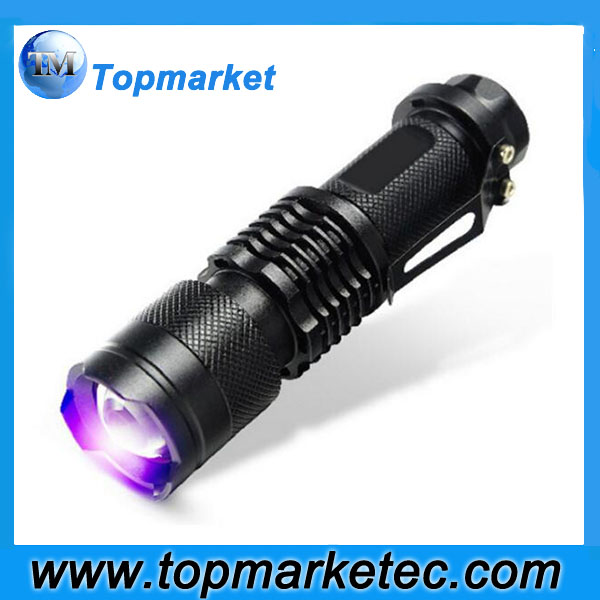 2017 NEW LED UV Flashlight SK68 Purple Violet Light UV 395nm torch Lamp 3 Modes Light Lamp Uesd By AA Or 14500 Battery SK68