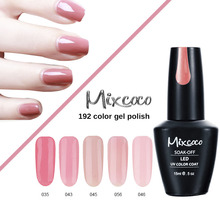 mixcoco brand 15ml soak off wholesale gel nail polish from factory