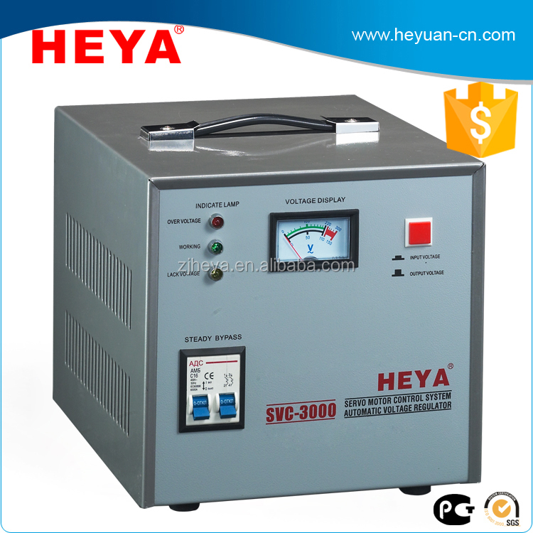Factory SVC 3000VA single phase servo motor control Digital/Meter display full power AC automatic voltage regulator/stabilizer
