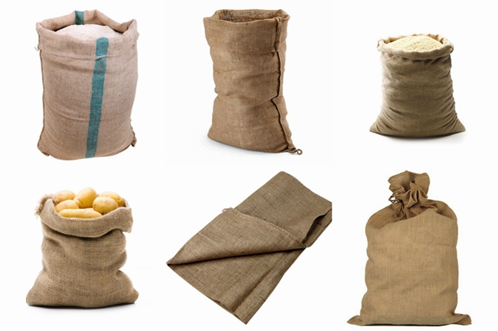 Natural burlap gunny rice sack for 100kg packing