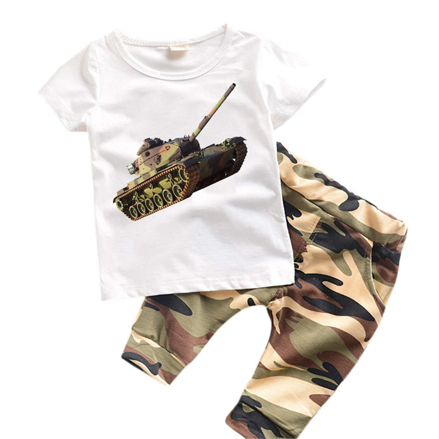 d599dd0efecb Get Quotations · Mandaartins 0-6 Years Kids Clothes Summer Boys Clothes Set  Kids Suits Camouflage