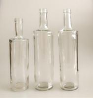 Cheap price 750ml Vodka Bordeaux glass wine bottle Burgundy luxury green long neck liquor spirit flint bottle