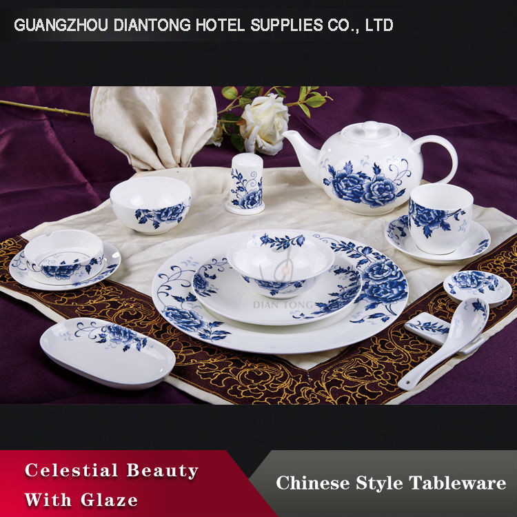 royal chinese vintage style colored dinner set