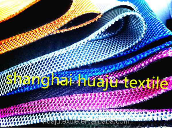 100% polyester 3D air mesh fabric with 3mm thickness