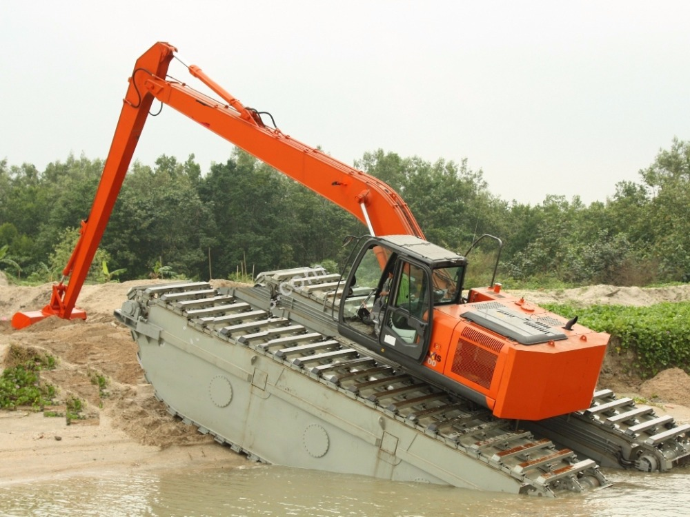 NEW HITACHI long reach floating crawler excavator for sale