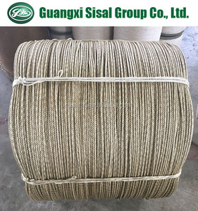 Oiled sisal rope for making steel wire rope core made of 100% sisal fiber sisal yarn