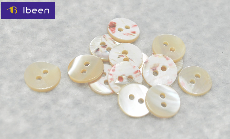 18L Yiwu Ibeenfashion Hengmei 16L Two Holes Thickness 1.1-1.4mm Trocas Shell Button