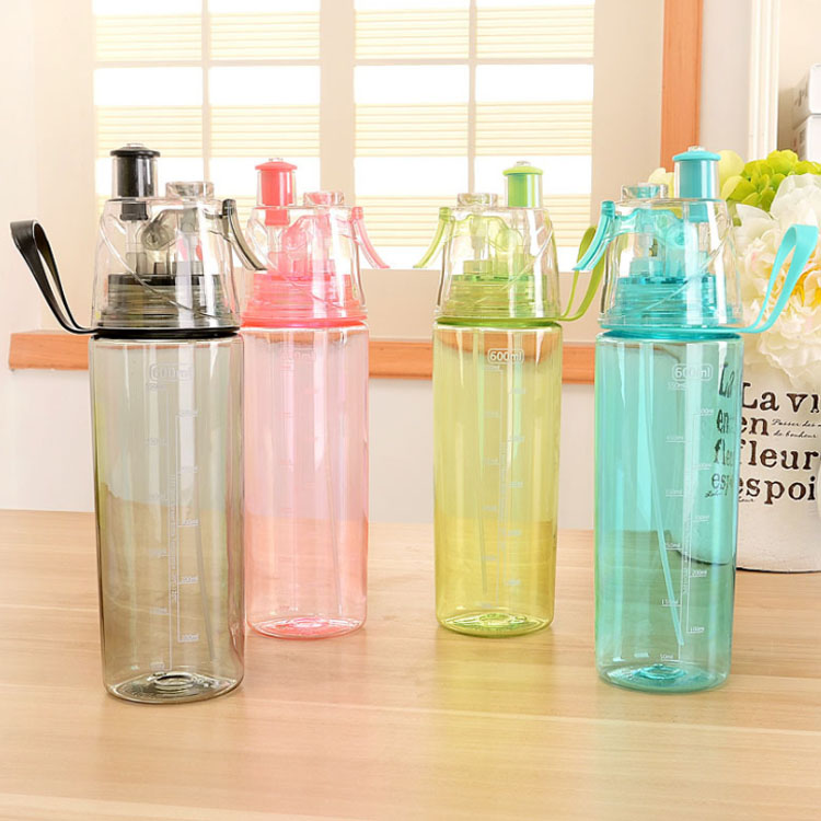 600ml infuser drinking PC moisturizing hairdressing custom sports spray plastic water bottle