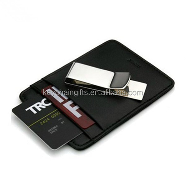 Hot sale fashion metal mens wallet with money clip