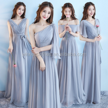 2018 New 6 Types Evening Dress Long Womens Maxi Bridal Gown Bridesmaid Dresses