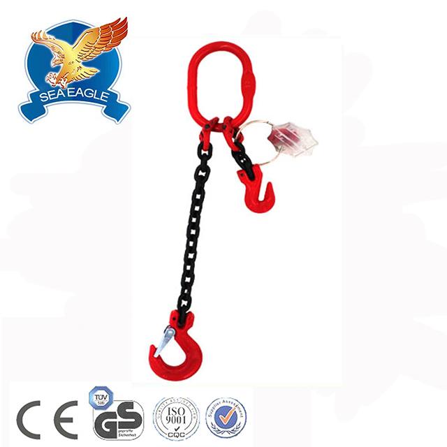 "5//8/"" x 8/' G80 Chain Lifting Sling with Sling Hook Single Leg"