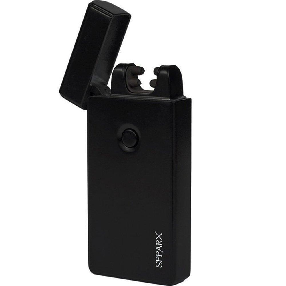 USB Lighter - SPPARX Arc Lighter, Dual Arc Electronic Lighter - FASTER - STRONGER - SAFER - Rechargeable Lighter Windproof, Cigarette Lighter, USB cable, Gift Box